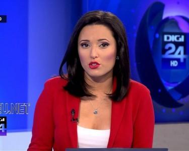 Oana Zamfir poze foto video prezentatoare TV jurnal de stiri DIGI24 HD
